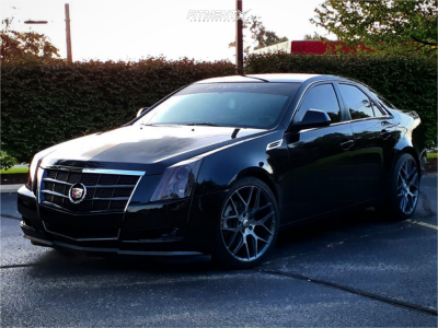 2008 Cadillac CTS - 20x9 35mm - Asanti Black Abl-27 - Stock Suspension - 245/40R20
