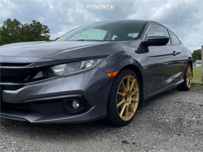2019 Honda Civic - 18x8.5 50mm - Enkei Ts10 - Stock Suspension - 235/40R18