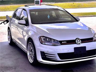 2015 Volkswagen GTI - 18x8.5 45mm - F1R F21 - Stock Suspension - 225/45R18