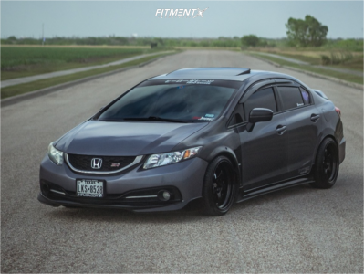 2015 Honda Civic - 17x8.5 10mm - Work Meister S1r - Coilovers - 215/35R17