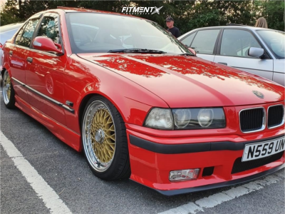 1996 BMW 318i - 17x7.5 35mm - Lenso Bsx - Coilovers - 205/40R17