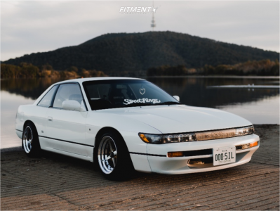 1992 Nissan 240SX - 15x8 -3mm - Work Equip 01 - Coilovers - 195/50R15