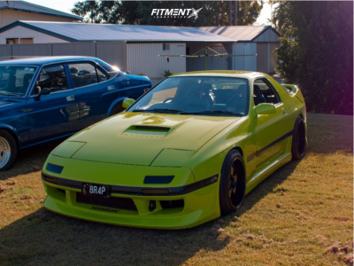 1989 Mazda RX-7 - 17x8.5 30mm - Lenso D1r - Coilovers - 235/45R17