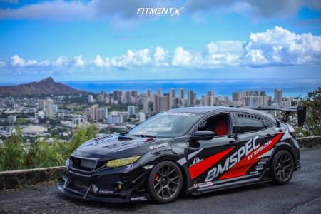 2019 Honda Civic - 18x9.5 35mm - Konig Ampliform - Lowering Springs - 265/35R18