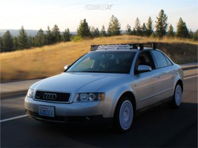 2003 Audi A4 Quattro - 17x7.5 40mm - Fifteen52 Integrale - Stock Suspension - 205/40R17