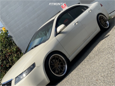 2004 Acura TSX - 18x8.5 35mm - Aodhan Ds07 - Coilovers - 225/40R18