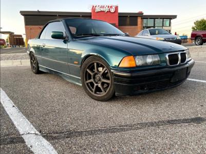 1997 BMW 328i - 17x7 35mm - Konig Ultraform - Lowering Springs - 225/45R17