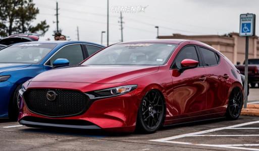 2019 Mazda 3 - 18x8.5 40mm - Enkei Raijin - Air Suspension - 215/45R18