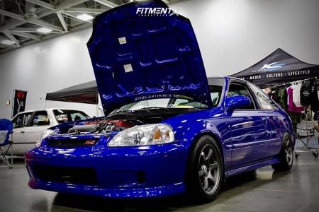 2000 Honda Civic - 15x8 40mm - Gram Lights 57dr - Coilovers - 205/50R15