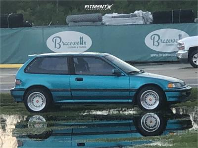 1991 Honda Civic - 15x9 -20mm - ESM 002r - Stock Suspension - 195/55R15