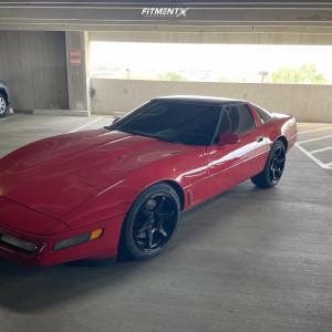 1996 Chevrolet Corvette - 18x9.5 45mm - Enkei T6r - Stock Suspension - 255/40R18