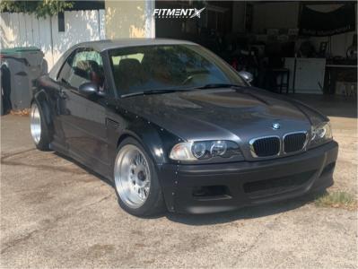 2002 BMW M3 - 18x9.5 -30mm - DTM Dtm-wb10 - Coilovers - 255/35R18