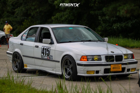 1993 BMW 325i - 17x9 22mm - Kansei Knp - Coilovers - 225/45R17