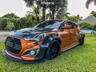 2014 Hyundai Veloster - 18x10.5 33mm - Aodhan Ds07 - Coilovers - 255/30R18