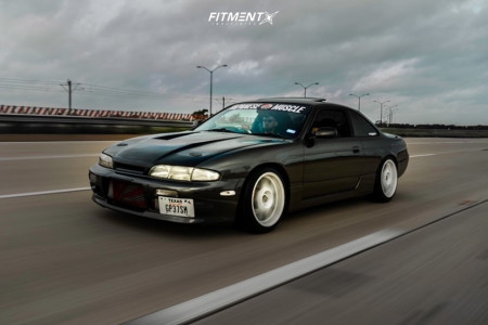 1994 Nissan 240SX - 17x9.5 10mm - Stage Wheels Knight - Coilovers - 215/45R17