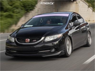 2014 Honda Civic - 17x9 45mm - Enkei Rpf1 - Coilovers - 235/35R17
