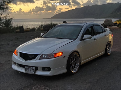2004 Acura TSX - 18x8.5 35mm - Aodhan Ds01 - Coilovers - 225/40R18