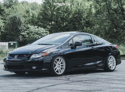2012 Honda Civic - 17x8.5 45mm - ESR Sr08 - Coilovers - 195/45R17