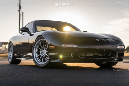 1993 Mazda RX-7 - 18x9.5 40mm - Enkei Nt03m - Coilovers - 265/35R18