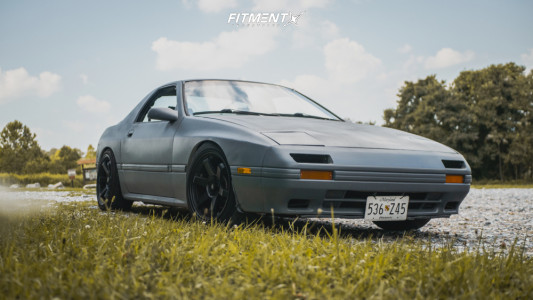 1986 Mazda RX-7 - 17x9 20mm - MST Time Attack - Coilovers - 215/45R17