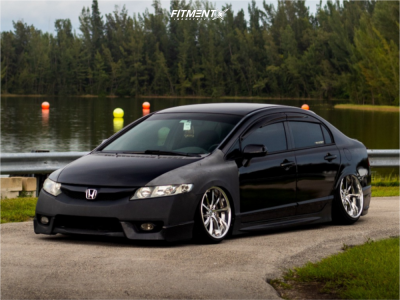 2007 Honda Civic - 18x9 26mm - Weds Kranze Vishnu - Coilovers - 215/35R18