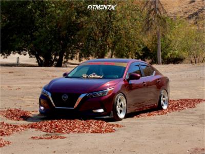 2021 Nissan Sentra - 18x8 20mm - Aodhan Ds05 - Lowering Springs - 215/40R18