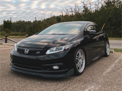 2012 Honda Civic - 18x8 35mm - Enkei Rpf1 - Coilovers - 225/40R18