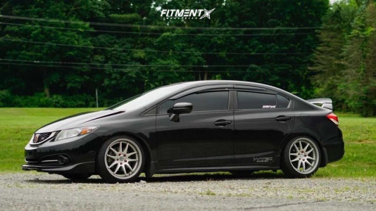 2015 Honda Civic - 18x8.5 35mm - Aodhan Ds02 - Coilovers - 215/40R18