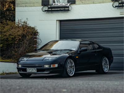 1991 Nissan 300ZX - 19x9 34mm - Weds Kranze Borphe - Stock Suspension - 225/35R19