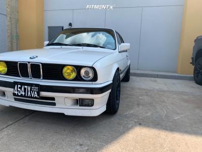 1991 BMW 318is - 15x8 28mm - Gram Lights 57dr - Lowering Springs - 225/50R15