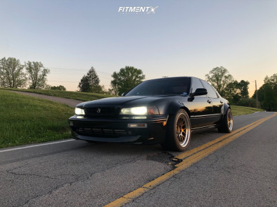 1995 Acura Legend - 18x9.5 15mm - Aodhan Ds06 - Stock Suspension - 285/35R18