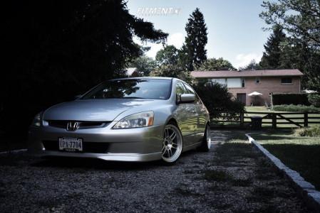2003 Honda Accord - 17x9 35mm - Enkei Rpf1 - Coilovers - 205/40R17