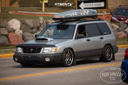 2000 Subaru Forester - 18x9.5 35mm - Aodhan Ds02 - Coilovers - 225/45R18