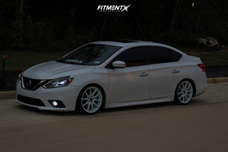 2017 Nissan Sentra - 18x8.5 35mm - Option Lab R716 - Coilovers - 215/35R18