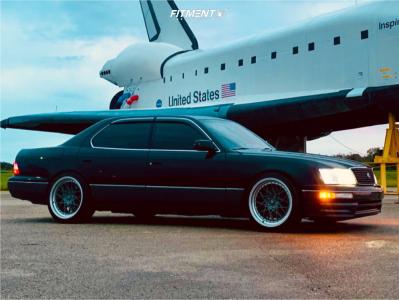 1997 Lexus LS400 - 19x9.5 35mm - ESR Cs3 - Coilovers - 245/40R19