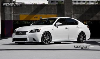 2013 Lexus GS350 - 20x9 32mm - Velgen VMB9 - Lowered Adj Coil Overs - 245/30R20