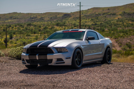 2014 Ford Mustang - 18x9 30mm - GODSPEED Omega - Lowering Springs - 245/40R18