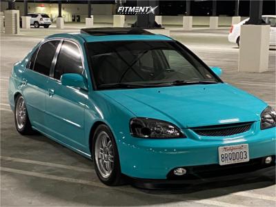 2002 Honda Civic - 15x7 41mm - Enkei Rpf1 - Coilovers - 205/50R15
