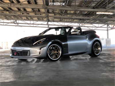 2010 Nissan 370Z - 19x9.5 24mm - Aodhan Ds02 - Stock Suspension - 235/40R19