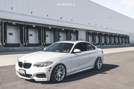 2016 BMW 228i xDrive - 18x8.5 35mm - Aodhan Aff7 - Coilovers - 225/40R18