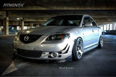2004 Mazda 3 - 18x9.5 35mm - Varrstoen MK1 - Lowered Adj Coil Overs - 215/40R18