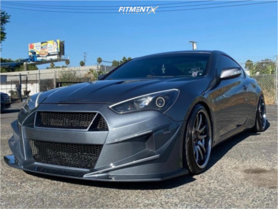 2014 Hyundai Genesis Coupe - 19x9.5 22mm - Aodhan Ds02 - Coilovers - 235/35R19