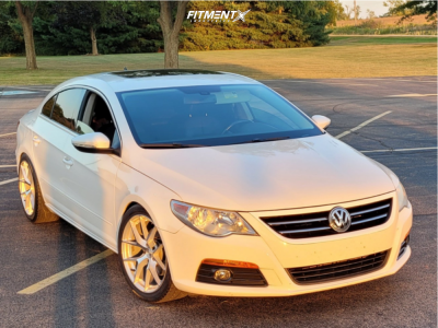 2010 Volkswagen CC - 18x8.5 35mm - Aodhan Aff7 - Coilovers - 245/40R18