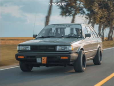 1988 Nissan Sentra - 15x8 0mm - MST Time Attack - Stock Suspension - 205/50R15
