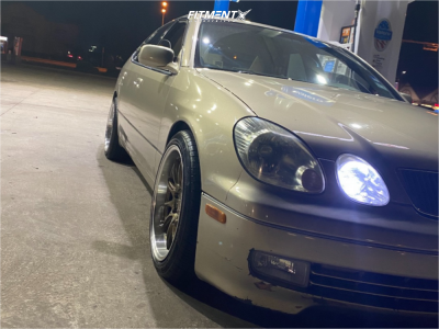 1999 Lexus GS300 - 18x9.5 22mm - Aodhan Ds07 - Stock Suspension - 245/40R18