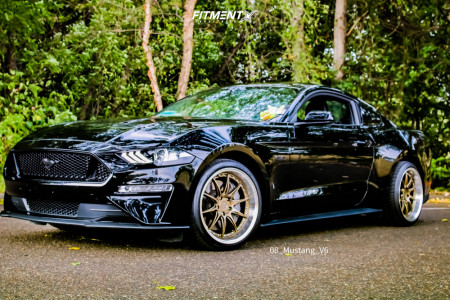 2019 Ford Mustang - 19x9.5 15mm - Aodhan Ds07 - Stock Suspension - 245/35R19