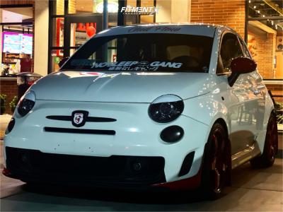 2015 Fiat 500 - 17x7.5 35mm - Neuspeed Rse05 - Lowering Springs - 205/40R17