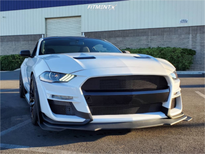 2019 Ford Mustang - 19x9.5 30mm - Aodhan Ds08 - Lowering Springs - 255/40R19