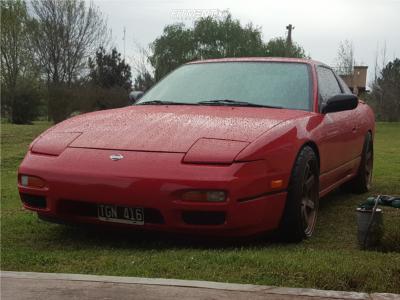 1992 Nissan 240SX - 18x9 25mm - Volk Te37sl - Coilovers - 225/40R18