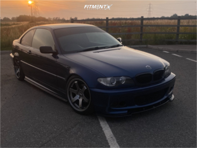 2004 BMW 320i - 18x8.5 30mm - Bola B1 - Coilovers - 225/40R18